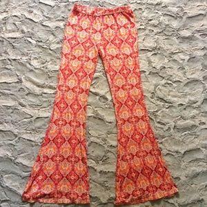 American Rag stretchy print bellbottom flare pants